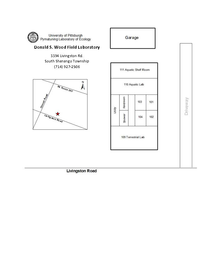 Donald S. Wood Field Lab Map